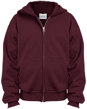 Shepherd Of The Valley Lutheran Youth Embroidered Full Zip Hoodie