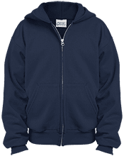 Lansing Eastern High School Quakers Youth Embroidered Full Zip Hoodie