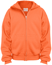 Amherst Central High School Tigers Youth Embroidered Full Zip Hoodie