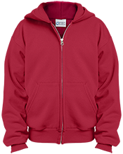 Melrose High School Red Raiders Youth Embroidered Full Zip Hoodie