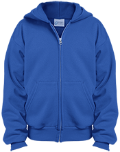 Kingsford Middle School Flivvers Youth Embroidered Full Zip Hoodie