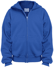 Brentwood Middle School Bulldogs Youth Embroidered Full Zip Hoodie