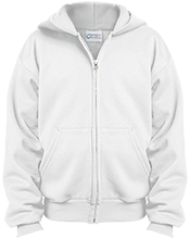 Jane Addams Middle School Jay Hawks Youth Embroidered Full Zip Hoodie