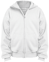 Francis Dunlavy Elementary School Warriors Youth Embroidered Full Zip Hoodie