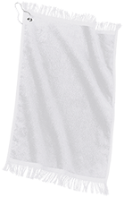 Manchester East Soccer Custom Embroidered Grommeted Finger Tip Towel