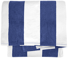 Shore Regional High School Blue Devils Cabana Stripe Beach Towel
