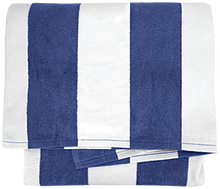 C C Jacobson Middle School C Hawks Cabana Stripe Beach Towel
