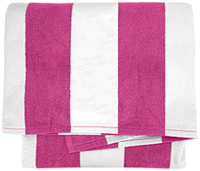 Clarke School for the Deaf School Cabana Stripe Beach Towel