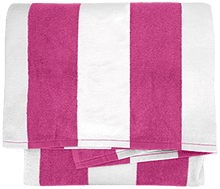 Brooks Elementary School School Cabana Stripe Beach Towel