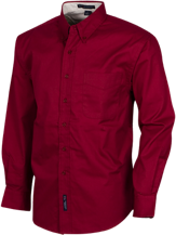 Cavett Elementary School Cardinals Mens Custom Long Sleeve Dress Shirt