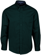 Hempstead High School Mustangs Mens Custom Long Sleeve Dress Shirt