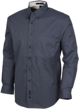 Fairmount Elementary School Bison Mens Custom Long Sleeve Dress Shirt