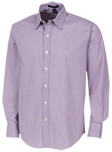 Downers Grove North High School Trojans Fine Stripe Stretch Poplin Shirt