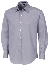 Delphos St. John's Bluejays Fine Stripe Stretch Poplin Shirt
