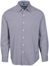 Milnor High School Bison Fine Stripe Stretch Poplin Shirt