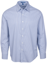 Fairmont High School Firebirds Fine Stripe Stretch Poplin Shirt