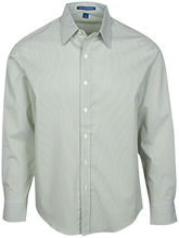 Hempstead High School Mustangs Fine Stripe Stretch Poplin Shirt