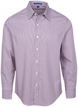 Highview Elementary School Hawks Fine Stripe Stretch Poplin Shirt