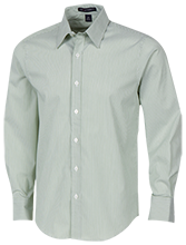 Post Oak School Oak Trees Fine Stripe Stretch Poplin Shirt