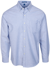 Milnor High School Bison Men's Long Sleeve Oxford Shirt
