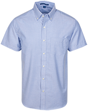 Post Oak School Oak Trees Men's Short Sleeve Oxford Shirt