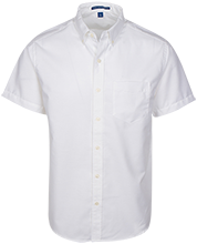 Alice Drive Middle Hawks Men's Short Sleeve Oxford Shirt
