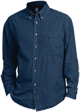 The Philadelphia School School Custom Embroidered Long Sleeve Denim Shirt