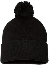 Liberty Middle School Lions Pom Pom Knit Cap