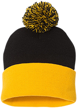 Don Cecilo Martinez Elementary School Tigers Pom Pom Knit Cap