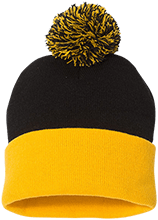Downing School Lions Pom Pom Knit Cap