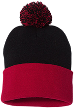 Espanola Elementary School Red Birds Pom Pom Knit Cap