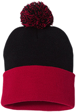 Meskwaki High School Warriors Pom Pom Knit Cap