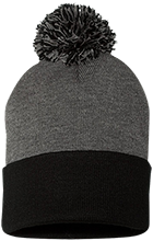 A Quinn Jones Center School Pom Pom Knit Cap