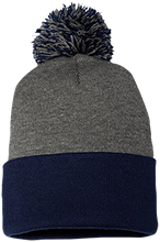 Summit High School Skyhawks Pom Pom Knit Cap