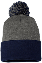 Team Granite Arch Rock Climbing Pom Pom Knit Cap