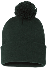 The Computer School Terrapins Pom Pom Knit Cap