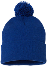 Superior Central School Cougars Pom Pom Knit Cap