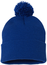 Islesboro Eagles Athletics Pom Pom Knit Cap