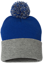 Shore Regional High School Blue Devils Pom Pom Knit Cap