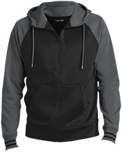 YMCA School Men's Sport-Wick® Varsity Fleece Full-Zip Hooded Jacket