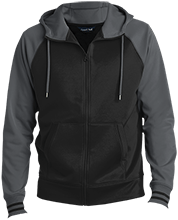 Breast Cancer Men's Sport-Wick® Varsity Fleece Full-Zip Hooded Jacket