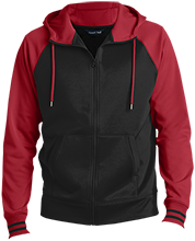 Audubon Middle Cardinals Men's Sport-Wick® Varsity Fleece Full-Zip Hooded Jacket