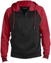 Fort Hill Elementary School Hawks Men's Sport-Wick® Varsity Fleece Full-Zip Hooded Jacket