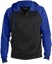 Deer Park Elementary School Deer Men's Sport-Wick® Varsity Fleece Full-Zip Hooded Jacket