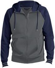 A R Carethers Academy Eagles Men's Sport-Wick® Varsity Fleece Full-Zip Hooded Jacket