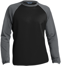 Aids Research Sport-Wick® Raglan Colorblock Fleece Crewneck
