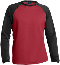 Huntingdon Area Senior High School Bearcat Sport-Wick® Raglan Colorblock Fleece Crewneck
