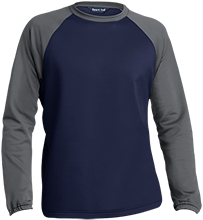 The Ranney School Panthers Sport-Wick® Raglan Colorblock Fleece Crewneck