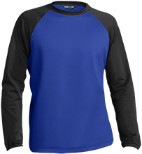 Bexley High School Lions Sport-Wick® Raglan Colorblock Fleece Crewneck