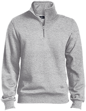 Baby Shower Quarter-Zip Embroidered Sweatshirt